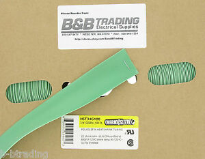 100 Ft Roll 3 4 Id 20mm Thermosleeve Green Polyolefin 2 1 Heat Shrink Tubing