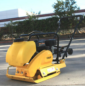 6 5hp Gas Power Walk Behind Plate Compactor Dirt Soil Asphalt Tamper Rammer