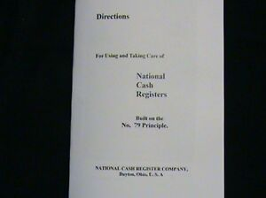 Antique National Cash Register use And Care Manual 79 400 Ncr