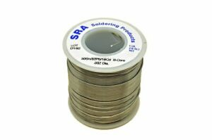 Acid Flux Core Low Melt Solder 50 32 18 032 inch 1 pound Spool