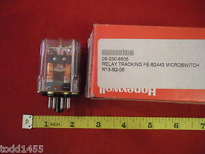 Honeywell Micro Switch Fe s2443 Relay Tracking 8 pin Coil 12v 165 Ohm New Nos