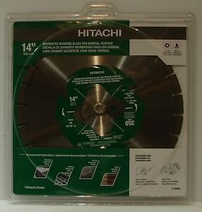 Hitachi 339593 14 Segmented Rim Diamond Blade Fast Brick Block Concrete