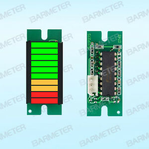 10 Seg Led Bargraph Module 2red 2yel 6gre active Apply To Battery Indicator