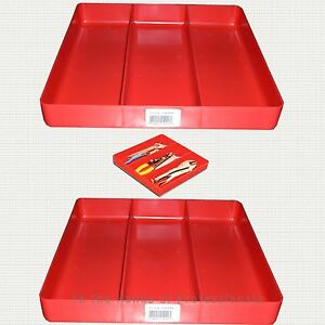 Ernst Mfg 2 5020 Jr Classic Red Tool Organizer Tray Yes Two 2 Trays