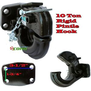 Rigid Mount Pintle Hook Type 10 Ton 20 000 Lbs Towing Truck Trailer Hitch Tow