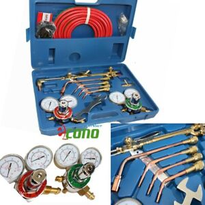 Oxygen Acetylene Welding Cutting Outfit Torch Set Gas Welder Kit W 15ft Hoses