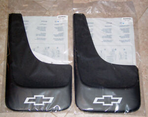 4 New Chevrolet Bowtie Silverado 99 2012 Mud Flaps Factory Gm Oem