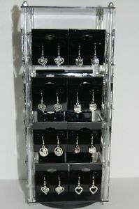 Revolving Acrylic Earring Display Stand Holds 32 2 X 2 Cards