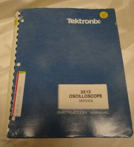 Tektronix 2213 Oscilloscope Service Instruction Manual