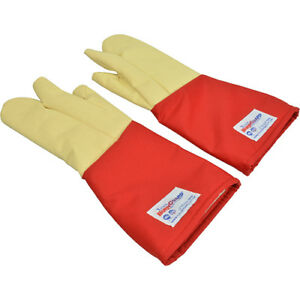 3 Finger Glove Pair Poly cotton Sleeve W kevlar Hand 18 Up To 650 F 133 1429