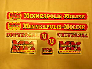 Decal Set For Minneapolis Moline U Decal Set
