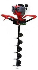 One Man 52cc 2hp Gas Post Hole Planting Earth Digger Auger W 6 Auger Bit