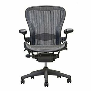 Herman Miller Aeron Chair Open Box Size B Fully Loaded Black Chair