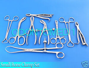 Small Bone Clamp Set Orthopedic Instruments Ds 1124