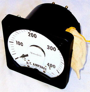 New 0 400 Amps Switchboard Panel Meter 5 Amp Fs Westinghouse Nib