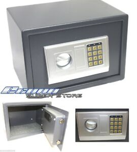 Digital Electronic Safe Lockbox Gun Jewelry Lock Box Key Or Keyless 12 X 8 X 8