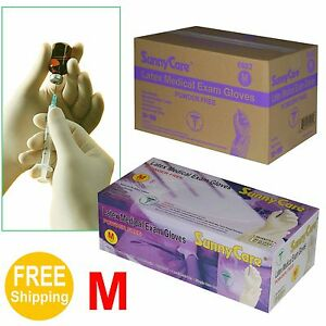 1000 cs Disposable Powder free Latex Medical Exam Gloves vinyl Nitrile Free M