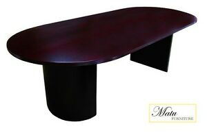 New Jade Mahogany 8 Office Conference Table For Boardroom Meeting Room