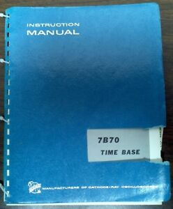 Tektronix 7b70 Time Base User Manual