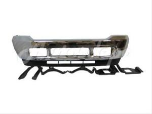For 2001 2002 Ford Super Duty F250 F350 Front Bumper Chr Valance Bracket Plate 8