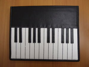Size A4 Piano Musical Instrument Leather File Paper Folder