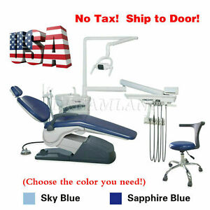 Dental Chair Unit Computer Controlled Dc Motor Auto water syringe Light Viewer