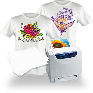 Laser Iron on Heat Transfer Paper Whites lights 100 Clplus 08