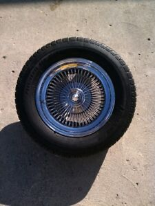 100 Spoke Chrome Player Wheels With Tires 15x7