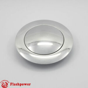 Billet Aluminum Steering Wheel Horn Button Big Plain Polished