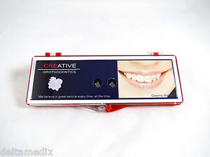 Orthodontic Roth Ceramic Brackets Dental Orthodontic Supplies 0 018