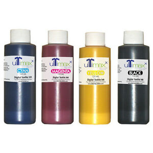 Ultimaxx Dtg Inks For Anajet melcojet Others 4 Bottles cmyk 125ml 4 25oz