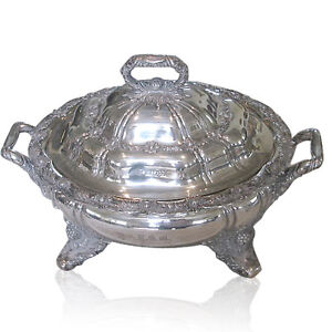 Rare Tiffany Co Chrysanthemum Sterling Soup Tureen