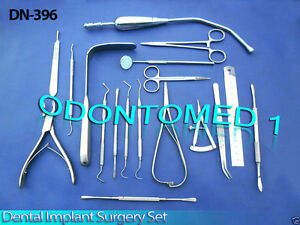 Dental Implant Surgery Set Of 18 Pcs Surgical Instruments Dn 396
