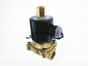 Electric Solenoid Valve Water Air N o 110v Ac 1 2 Normally Open Type