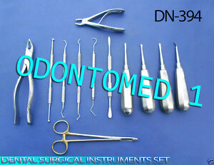 Set Of 12 Pcs Dental Surgical Instruments Dn 394