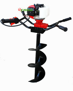 Two Man 71cc Gas Post Earth Planting Ice Hole Digger Driller W 12 10 4 Bits