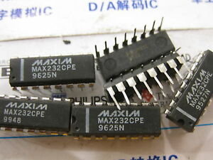 2x Max232cpe 5v powered Multichannel Rs 232 Drivers receivers Max232