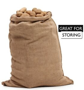 Burlap Bags Wholesale Bulk 50 24 X 40 Sacks Potato Race Sandbags Home Depot