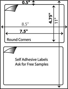 800 Self Adhesive Shipping Labels For Ebay Usps Ups 7 X 4 5 Great For 000 Wh