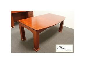 New Emerald Bowfront Executive Office Desk Table