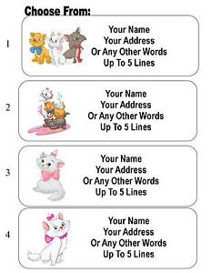 30 Aristocats Marie Cat Personalized Address Labels