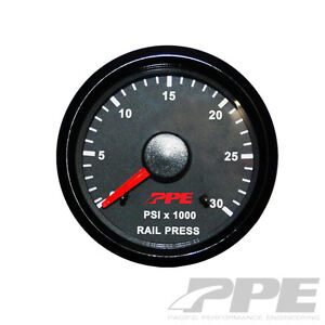 Ppe Fuel Rail Pressure Gauge 2 1 16 Fits 03 17 Dodge Cummins 01 05 Gm Duramax