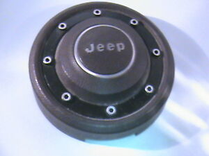 70 S 80 S Jeep Ralley Steering Wheel Horn Button In Burgandy Color Nice Shape