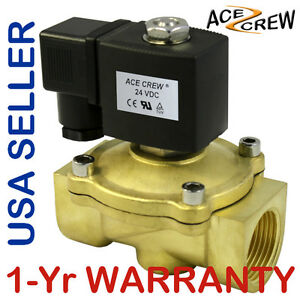 1 Inch 24v Dc Brass Electric Solenoid Valve Npt Gas Water Air Normally Closed