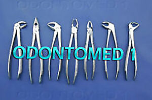 Set Of 7 Dental Tooth Surgery Extracting Extraction Forcep Set
