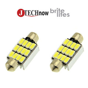 Jtech 2x 39mm 1 54 12 Smd Canbus Led Bulb 6411 6413 6418 6451 6461 6475 6476