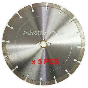5pk 10 Diamond Saw Blade For Brick Block Concrete Masonry General Purpose