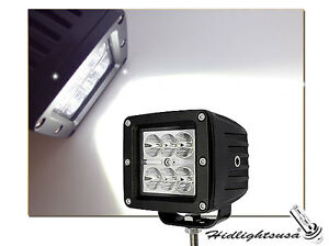 Pair 3 X 3 Square Cree Led 18w Fog Driving Time Lights For Atv Jeep Truck