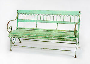 Antique Garden Bench From France