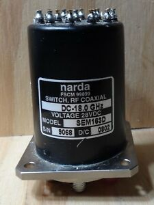 Narda Rf Coaxial Switch Dc 18 0 Ghz Model Sem163d